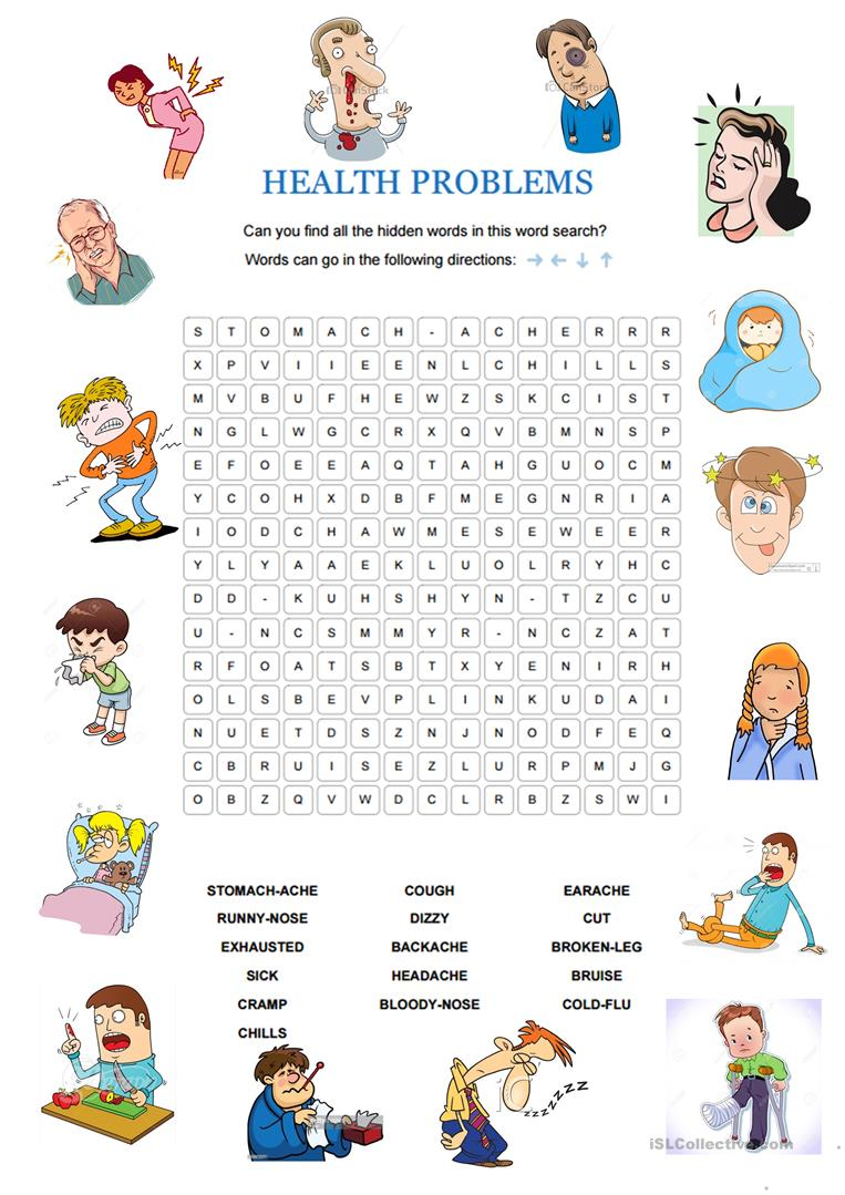 Health Problems Worksheet Free Esl Printable Worksheets Made By
