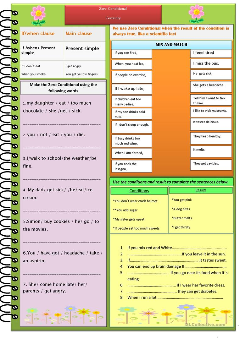 Zero Conditional Worksheet Free Esl Printable Worksheets Made