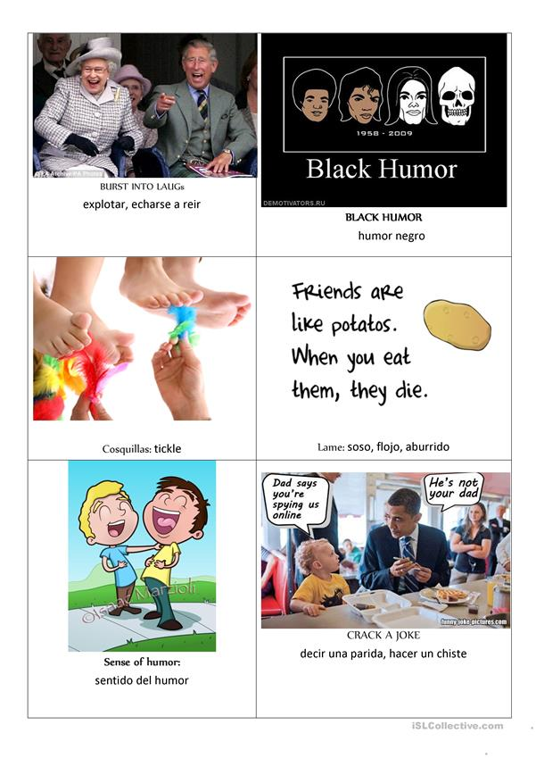 HUMOUR TOPIC FLASH CARDS