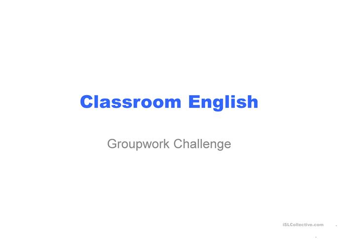 Classroom English - ESL powerpoints