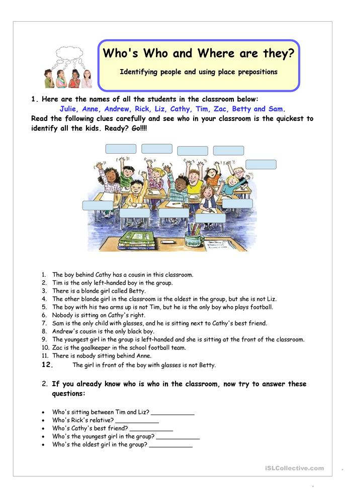 12 FREE ESL adjectives and prepositions worksheets