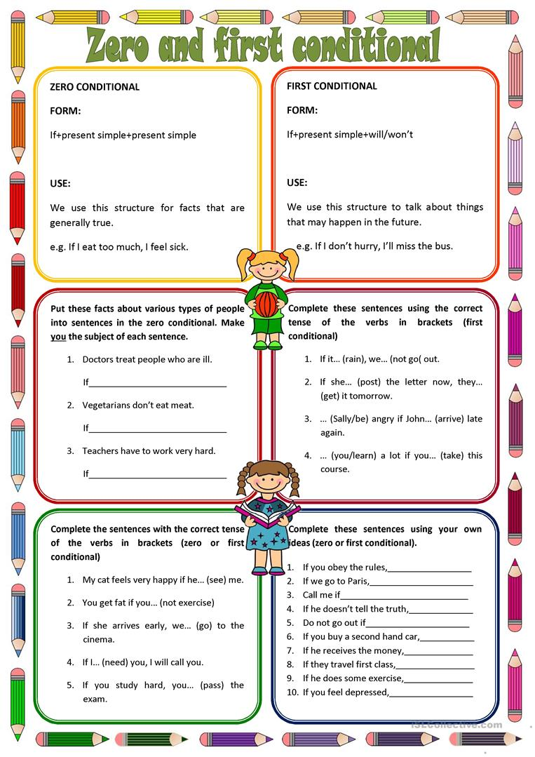 Zero And First Conditionals Worksheet Free Esl Printable
