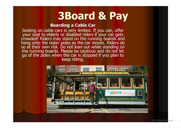 How to Ride on a Cable Car