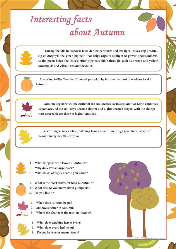 Interesting facts about Autumn