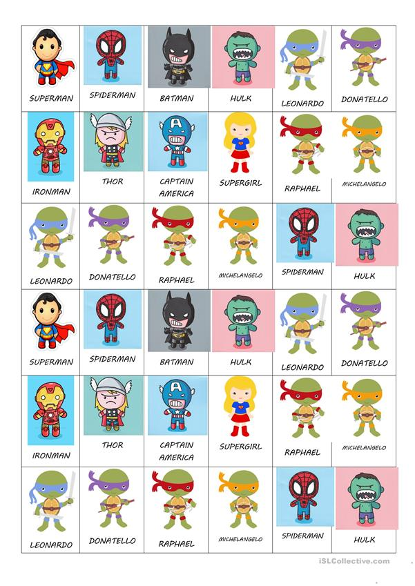 SUPERHEROES STICKERS FOR LITTLE KIDS