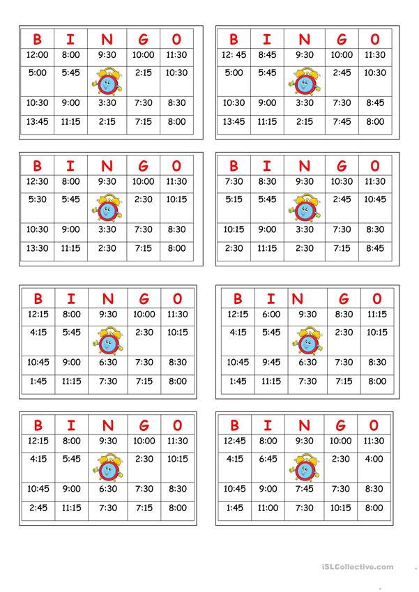 This is a picture of Telling Time Printable Games within grade3