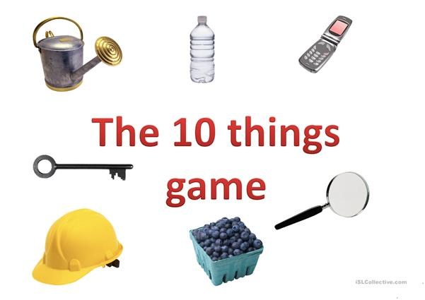 The 10 things game