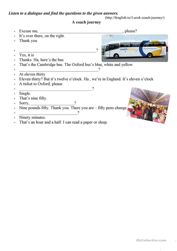A couch journey - ESL worksheets