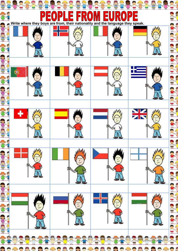 countries people from europe worksheet free esl printable worksheets made by teachers. Black Bedroom Furniture Sets. Home Design Ideas