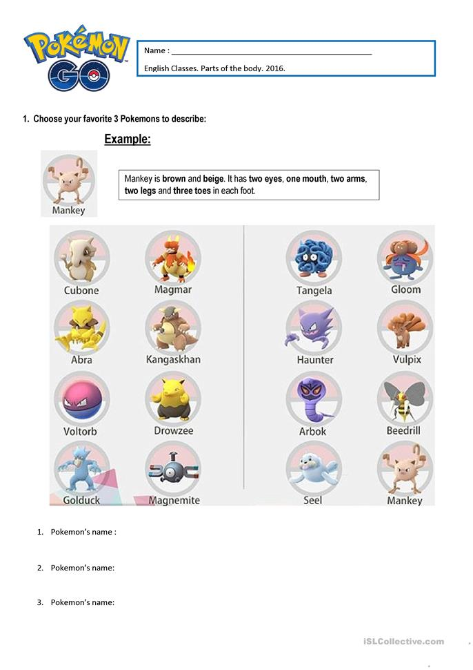 pokemon essay Harness the immersive game pokémon go to engage your students in the skills required for collaboration, inquiry, written communication, and building culture.