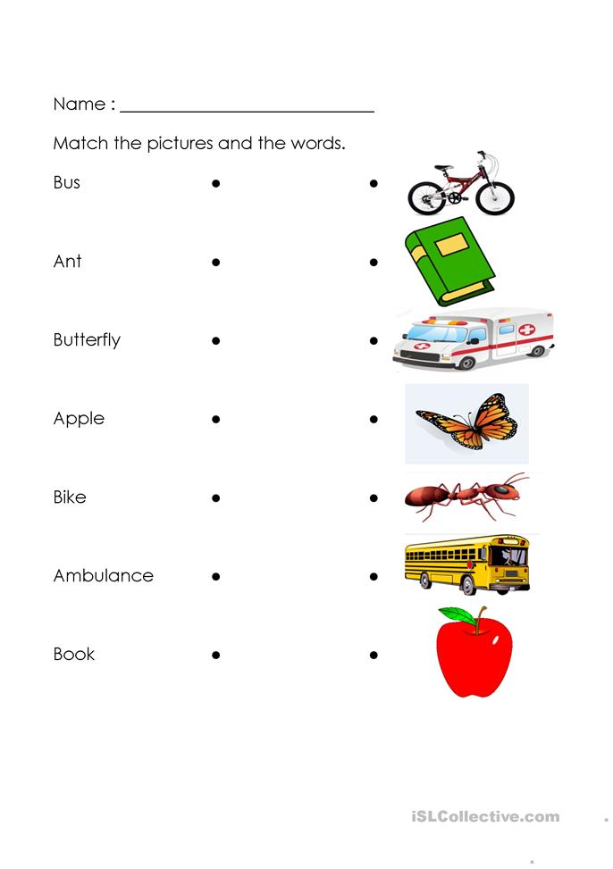 Vocabulary A-B - ESL worksheets