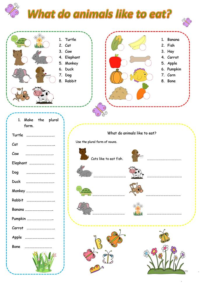 what do animals like to eat worksheet free esl printable worksheets made by teachers. Black Bedroom Furniture Sets. Home Design Ideas