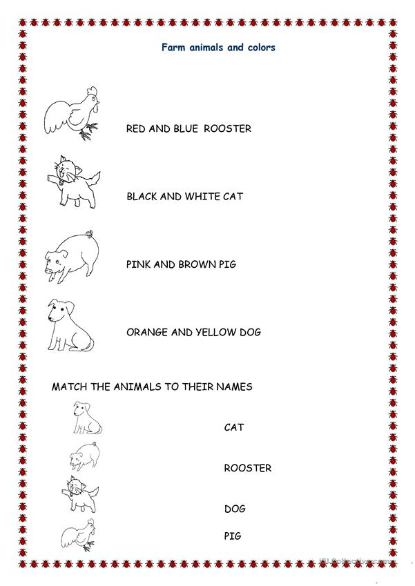 Animals And Colors English Esl Worksheets For Distance Learning And Physical Classrooms