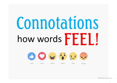 Connotations How Words Feel Worksheet Free Esl Projectable