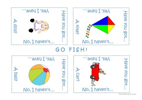 photo relating to Printable Go Fish Cards identified as Shift Fish! worksheet - No cost ESL printable worksheets designed as a result of