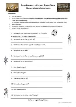 Fractions On A Number Line Worksheets Word  Free Esl Do Or Does Worksheets Prefix Worksheet 2nd Grade Word with Second Grade Telling Time Worksheets Daily Routines With Simple Present Tense  A Day In The Life Of A S Bar Charts Worksheets