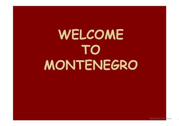 A few facts about Montenegro