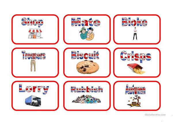 American and British English Snap