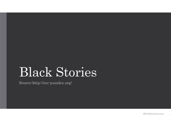 Black Stories puzzles and riddles
