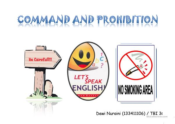 commands and prohibitions