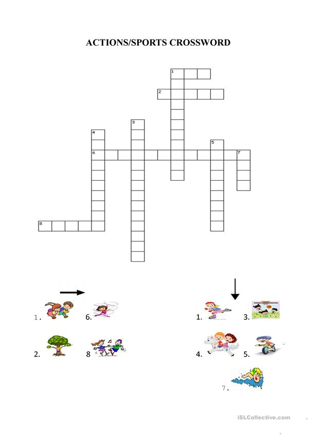 EXPLORERS 2 UNIT 1 ACTIONS CROSSWORD