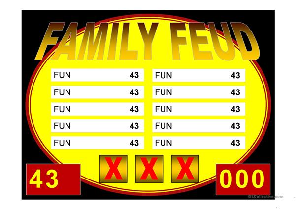 Family Feud Game Power Point Template
