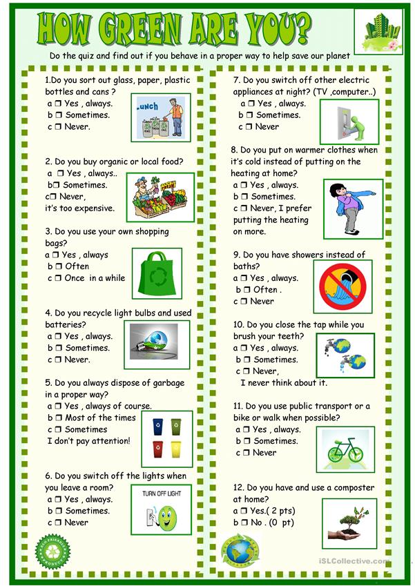 How green are you : new updated and simplified for French EPI