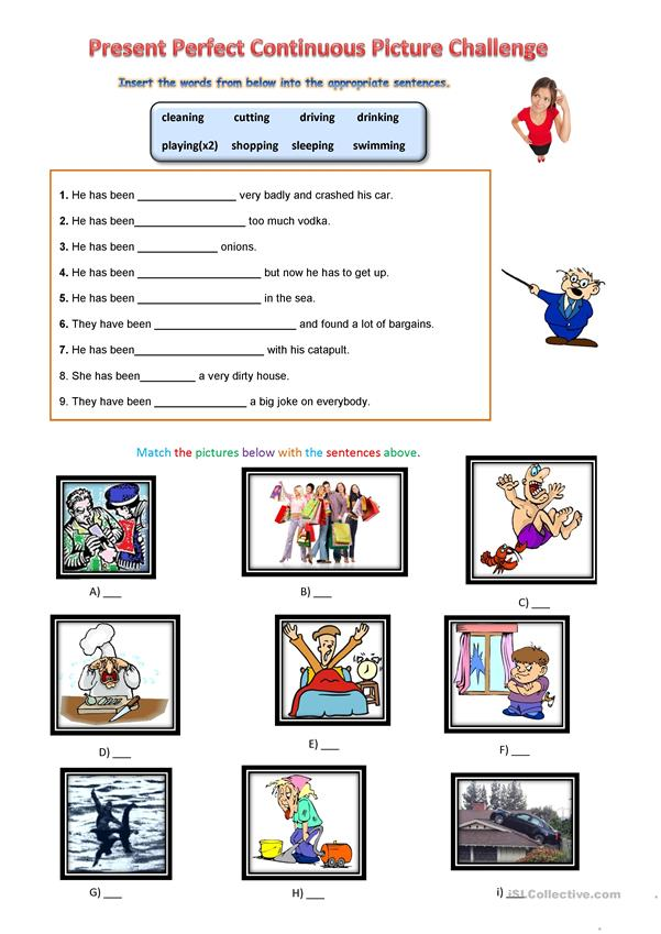 Present Perfect Continuous Picture Challenge