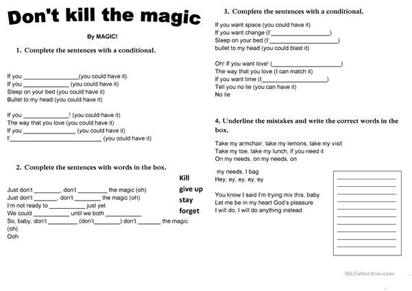 Song - Don´t kill the magic by Magic!