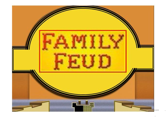 Family Feud Game Power Point Template - ESL powerpoints
