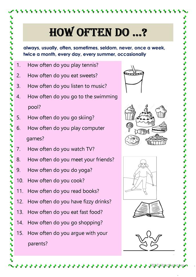 How often do you worksheet - Free ESL printable worksheets ...