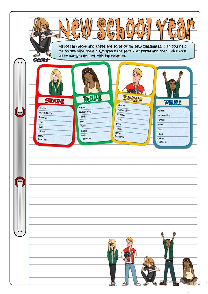 THE NEW SCHOOL YEAR - ESL worksheets