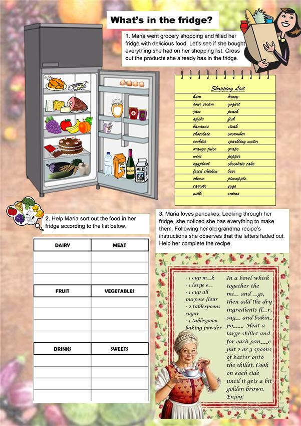 worksheet for kids, food drinks exercise, for grade 2, cake chicken, examples exercises, worksheets grade 5, exercises intermediate, clip art, on quantifiers with countable and uncountable nouns worksheet