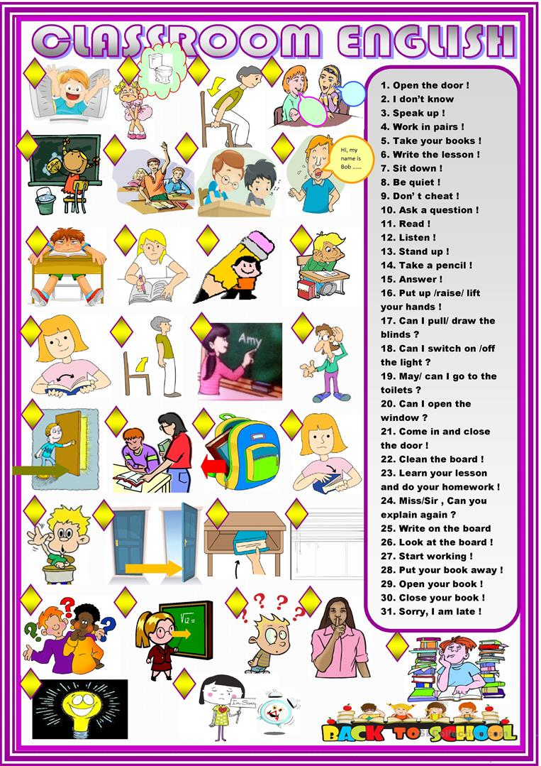 Modern Language Classroom Techniques ~ Free esl clroom rules worksheets kindergarten worksheet