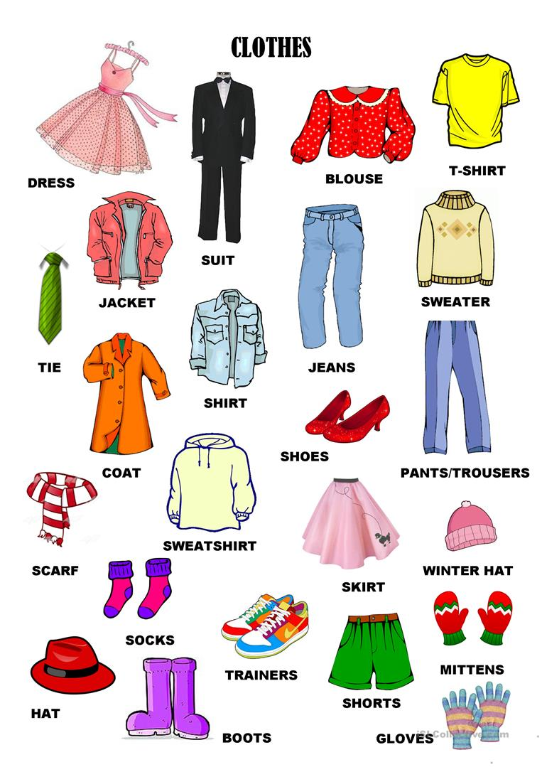 Clothes, accesories and details *7pages* worksheet