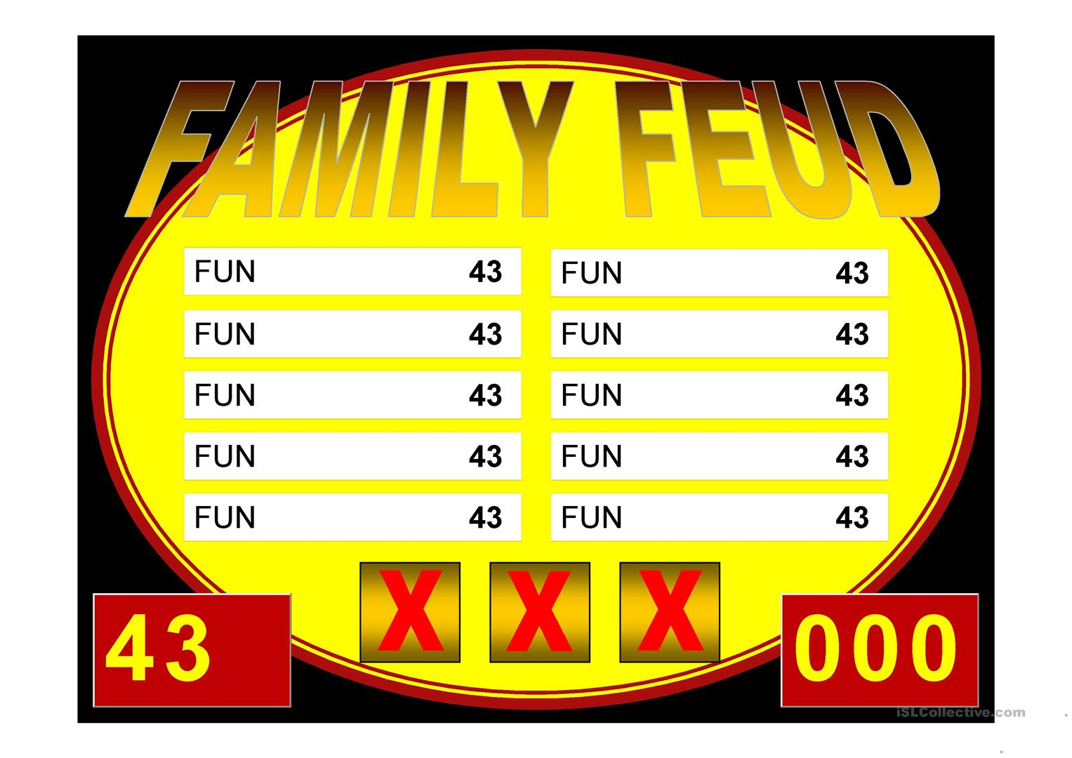 family feud game powerpoint template image collections - templates, Powerpoint templates