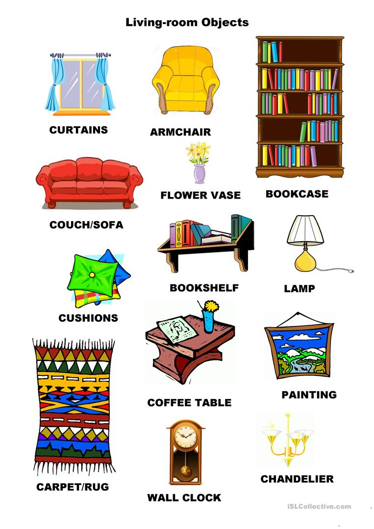 24 FREE ESL OBJECTS VOCABULARY worksheets