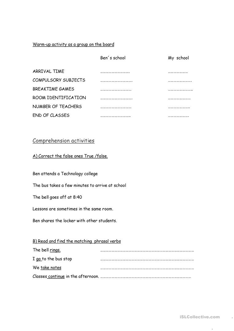 Workbooks text features reading comprehension worksheets : Reading Comprehension worksheet worksheet - Free ESL printable ...