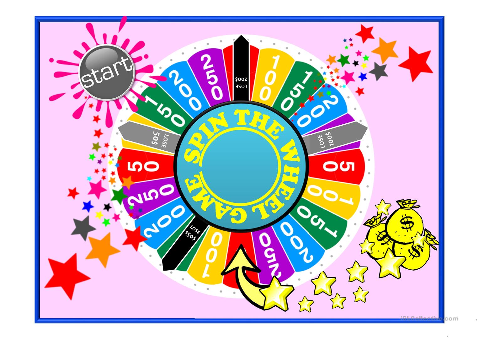 Spin The Wheel Revision Game English Esl Powerpoints For Distance Learning And Physical Classrooms