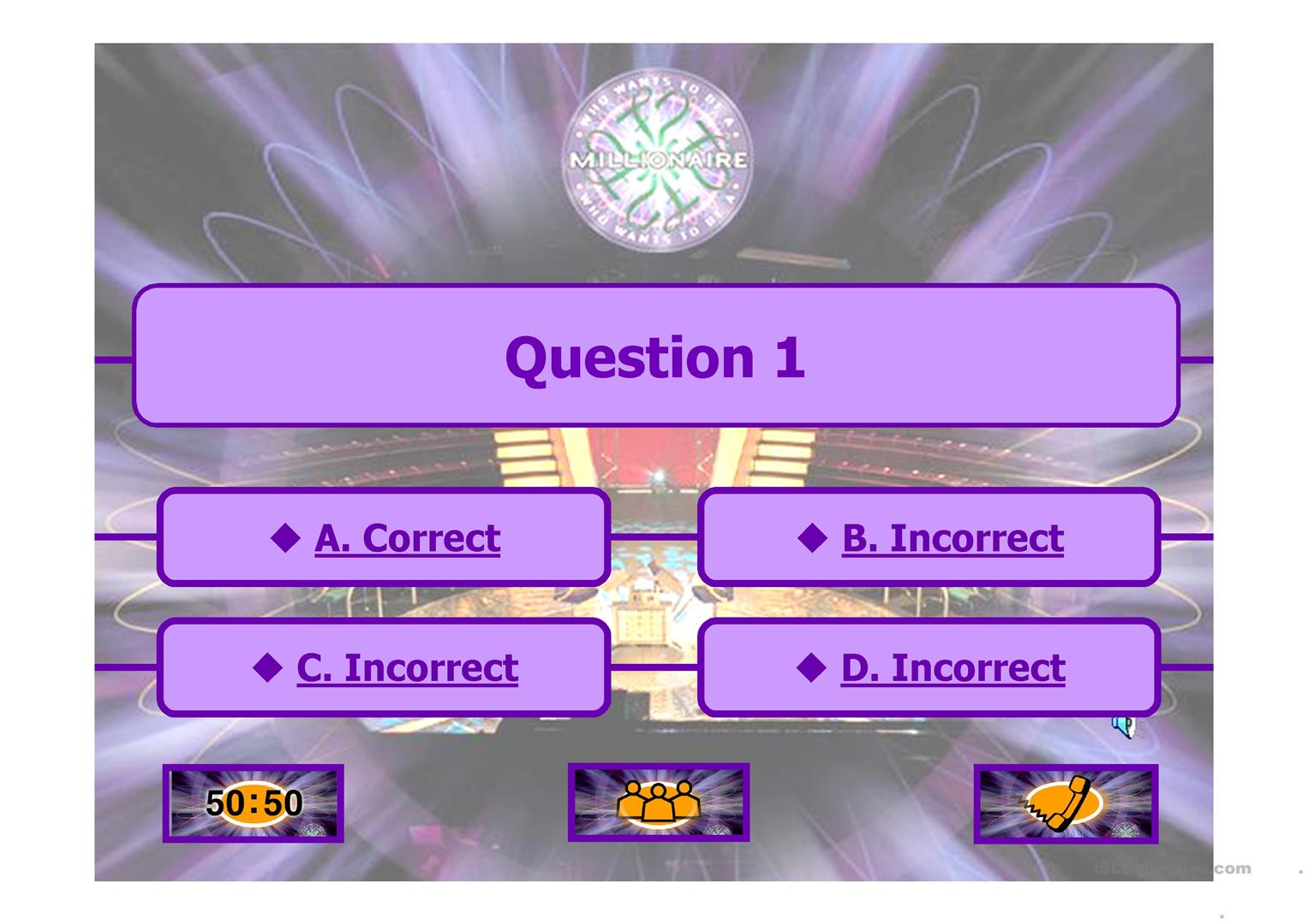 powerpoint template who wants to be a millionaire image, Powerpoint templates