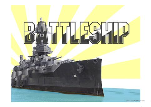 Battleship Game Power Point Template Worksheet  Free Esl