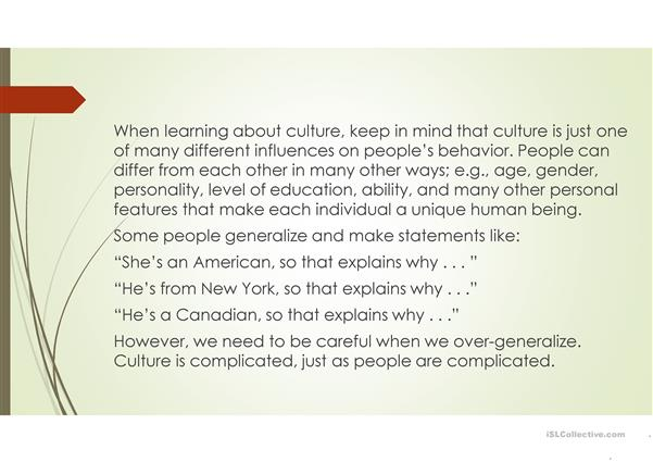 A reflexion on culture and tis limits