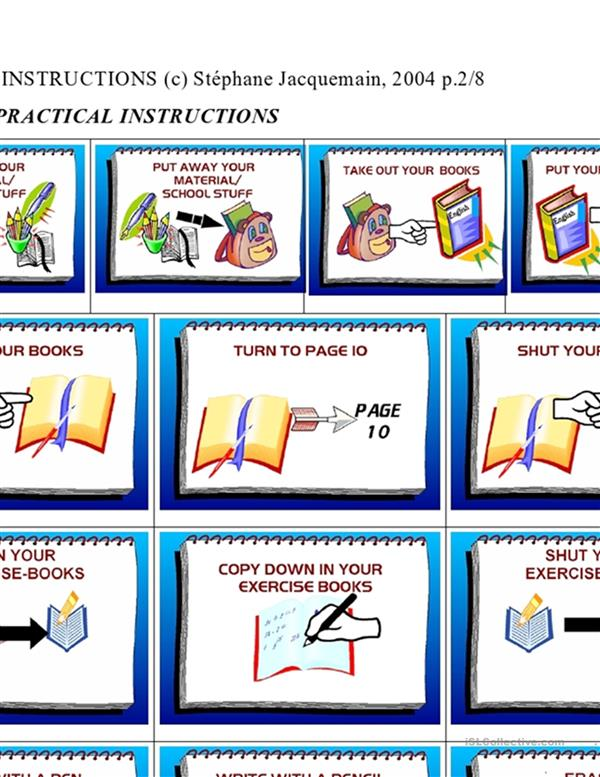 CLASSROOM ENGLISH (Practical Instructions): A Visual Guide
