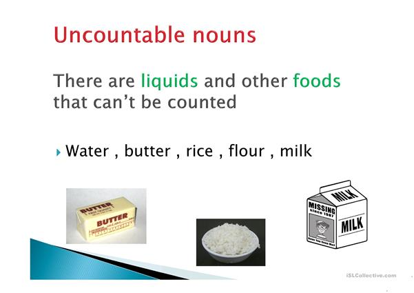 Countable and uncountable nouns + some and any