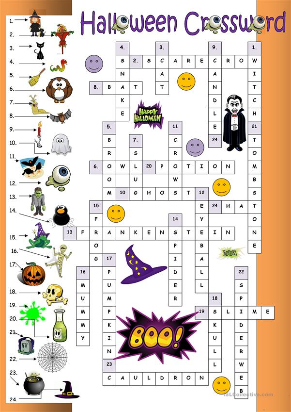 Halloween Crossword for beginners_Key
