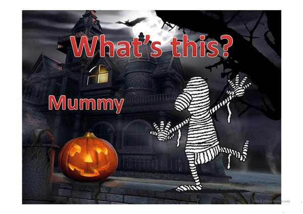 Halloween Vocabulary and Game
