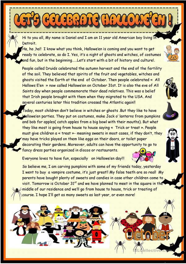 Let's celebrate Halloween : 2 page reading