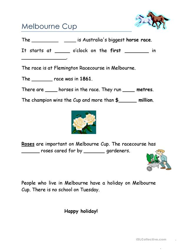Melbourne Cup (Beginners version)