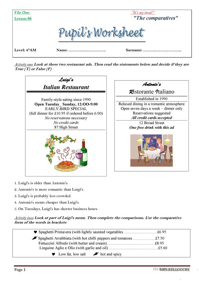 All Worksheets Comparatives In Spanish Worksheets Free – High School Spanish Worksheets