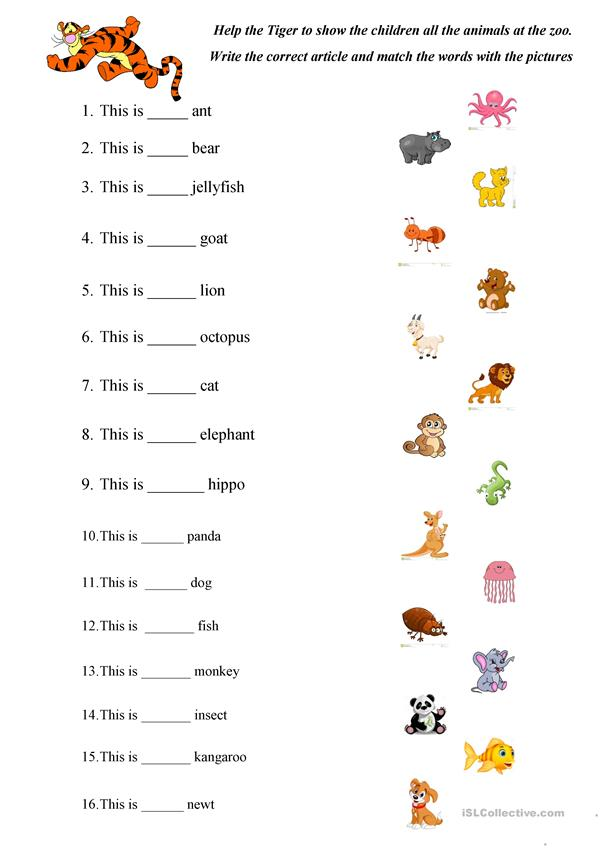 ABC Animals practice - English ESL Worksheets for distance ...